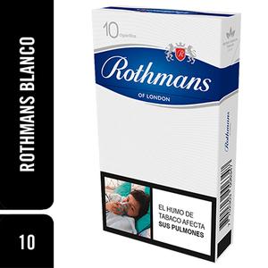 Cigarrillos Rothmans Blanco X 10 Unds