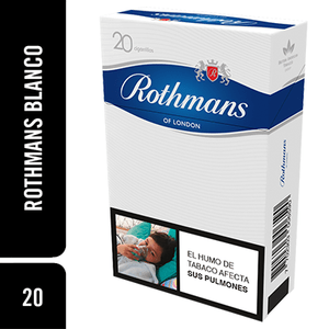 Cigarrillos Rothmans Blanco x 20Unds