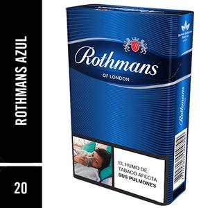 Cigarrillos Rothmans Azul x 20 Unds