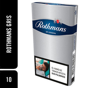Cigarrillos Rothmans Gris x 10Unds